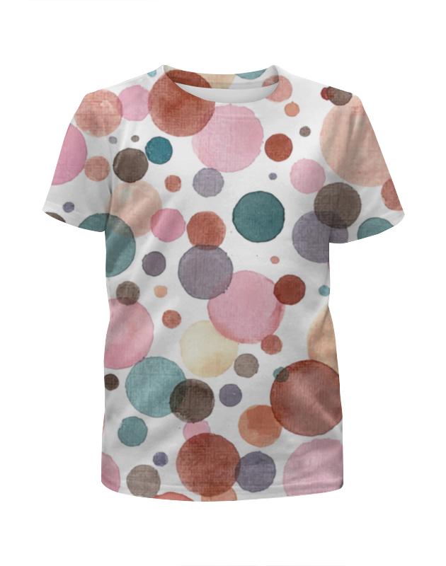 Футболка с полной запечаткой для девочек Printio Акварельная футболка с полной запечаткой женская printio воздушные шары