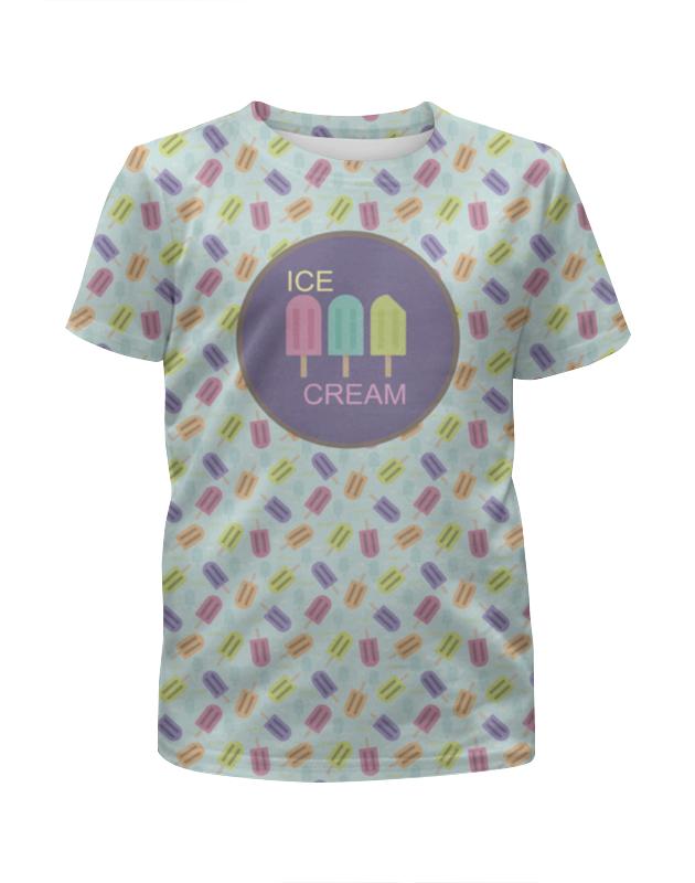Футболка с полной запечаткой для девочек Printio Ice-cream