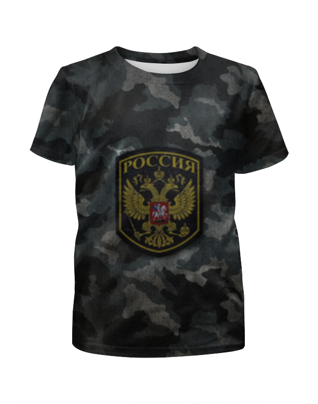 Футболка с полной запечаткой для девочек Printio Россия камуфляж футболка с полной запечаткой для девочек printio spawn