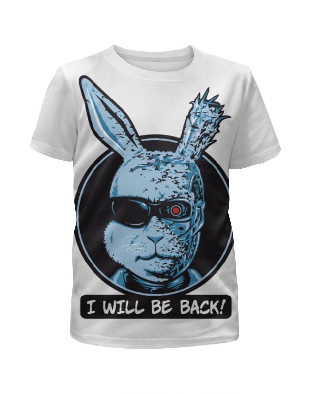 Футболка с полной запечаткой для девочек Printio I'll be back (я вернусь) футболка стрэйч printio i'll be back я вернусь