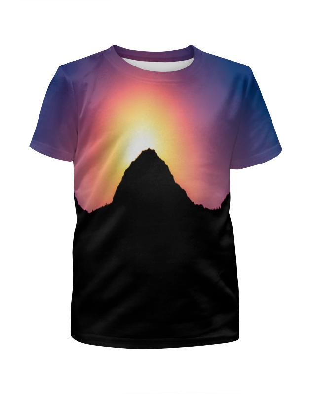 Футболка с полной запечаткой для девочек Printio Закат солнца футболка с полной запечаткой для девочек printio закат в красках