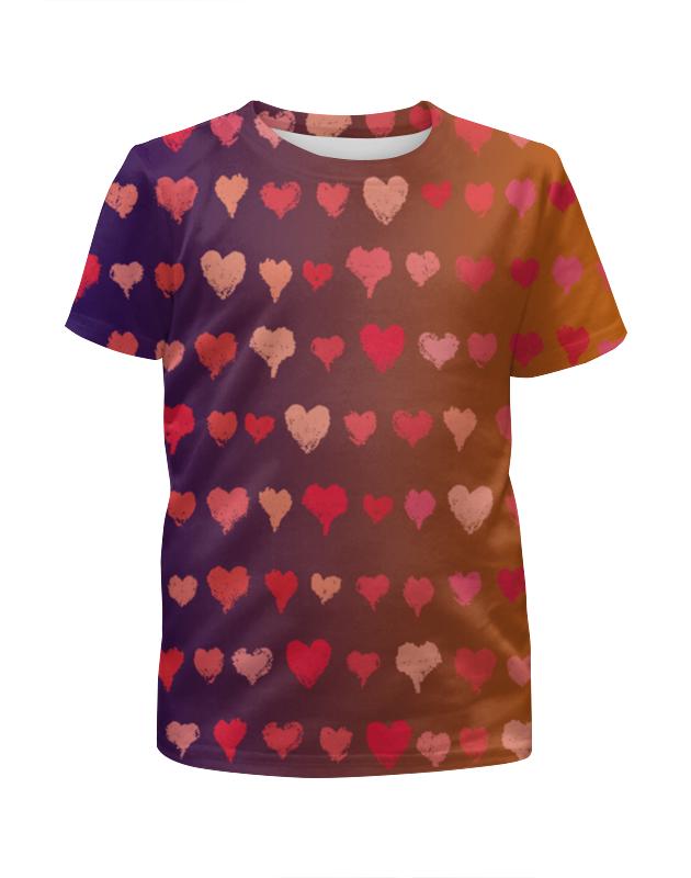 Футболка с полной запечаткой для девочек Printio Сердечки футболка с полной запечаткой для девочек printio на отдых