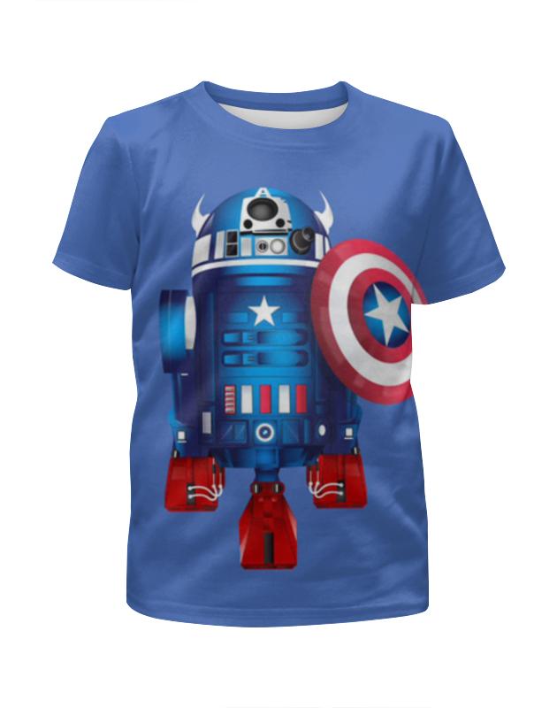 Футболка с полной запечаткой для девочек Printio Captain america футболка с полной запечаткой для девочек printio bats spawn arsb
