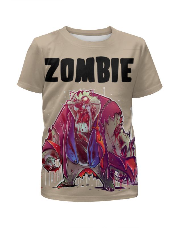 Футболка с полной запечаткой для девочек Printio Zombie cat футболка с полной запечаткой для девочек printio пртигр arsb