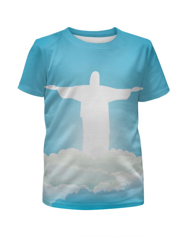 Футболка с полной запечаткой для девочек Printio Иисус христос складень икона иисус христос и николай чудотворец 2 шт