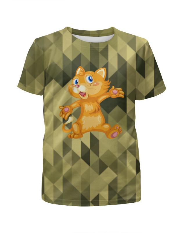 Футболка с полной запечаткой для девочек Printio Рыжий кот футболка с полной запечаткой для девочек printio пртигр arsb