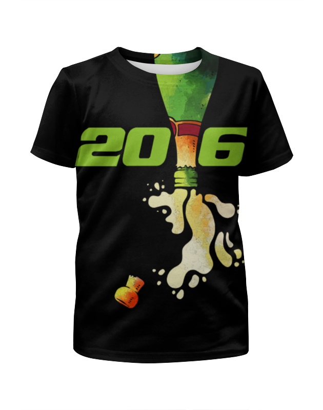 Футболка с полной запечаткой для девочек Printio Новый год 2016!