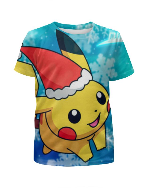 Футболка с полной запечаткой для девочек Printio Новогодний пикачу футболка с полной запечаткой для девочек printio дом милый дом