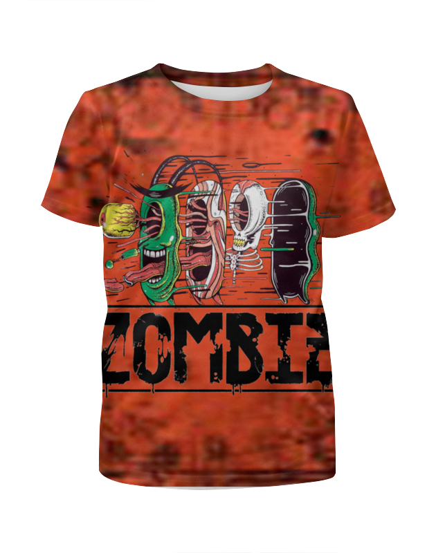Printio Zombie футболка с полной запечаткой для девочек printio zombie cat