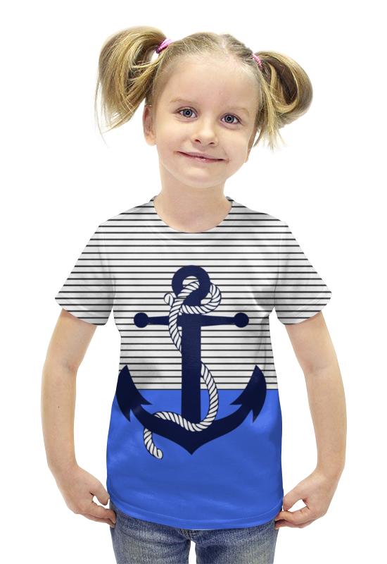 Футболка с полной запечаткой для девочек Printio Якорь футболка с полной запечаткой для девочек printio пртигр arsb