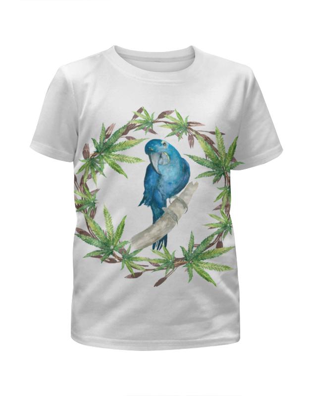 Футболка с полной запечаткой для девочек Printio Синий попугай футболка с полной запечаткой для девочек printio синий огонь