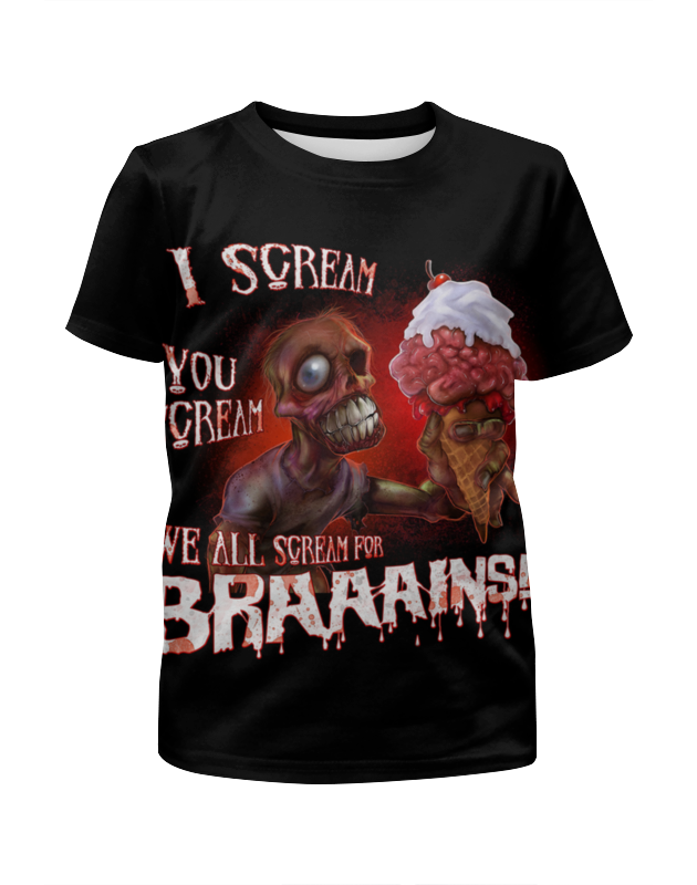 Printio Zombie art футболка с полной запечаткой для девочек printio zombie cat