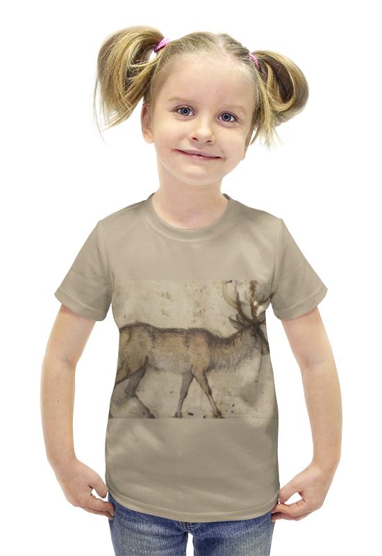 Футболка с полной запечаткой для девочек Printio Олень футболка с полной запечаткой для девочек printio пртигр arsb
