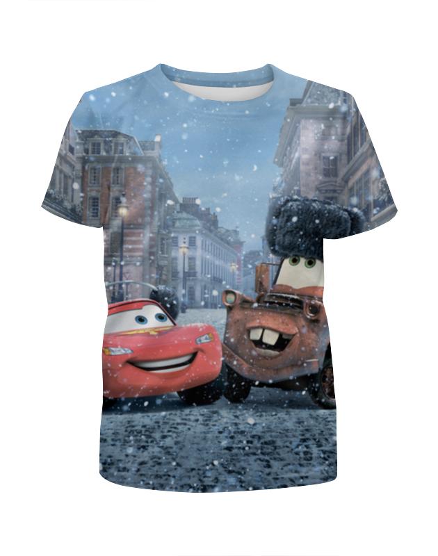 Футболка с полной запечаткой для девочек Printio Тачки футболка с полной запечаткой для девочек printio волгоградская область