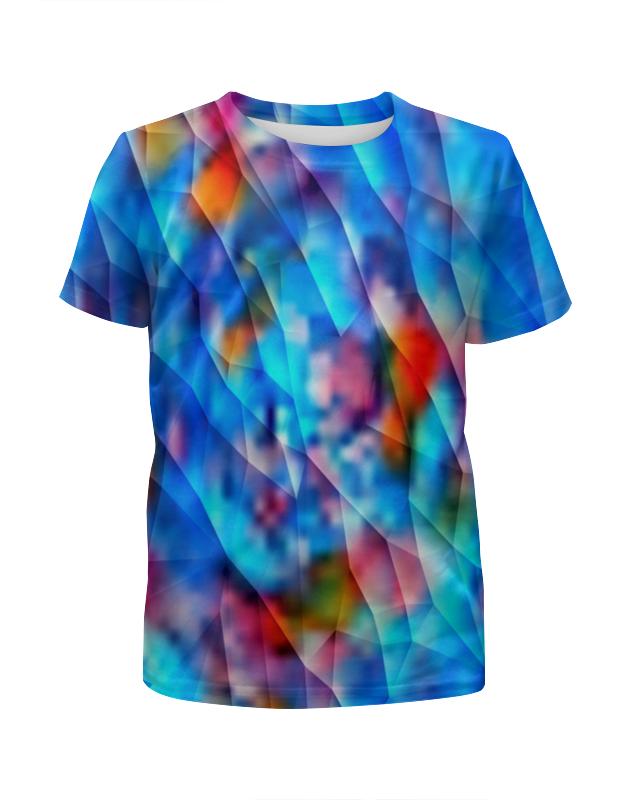 Футболка с полной запечаткой для девочек Printio Красочный узор футболка с полной запечаткой для девочек printio волнистый узор