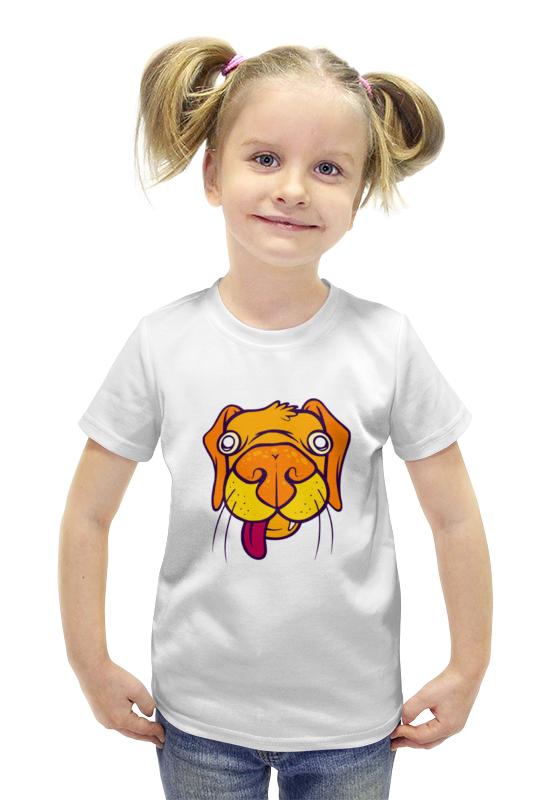 Футболка с полной запечаткой для девочек Printio Бульдог футболка с полной запечаткой для девочек printio spawn
