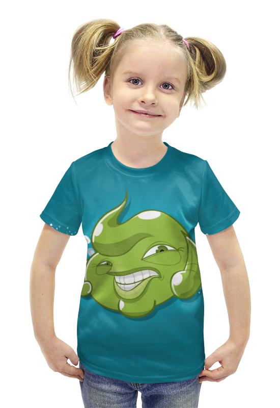 Футболка с полной запечаткой для девочек Printio Пузырь футболка с полной запечаткой для девочек printio пртигр arsb