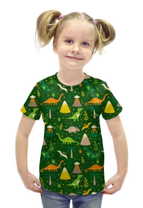 Футболка с полной запечаткой для девочек Printio Динозавры футболка с полной запечаткой для девочек printio пртигр arsb