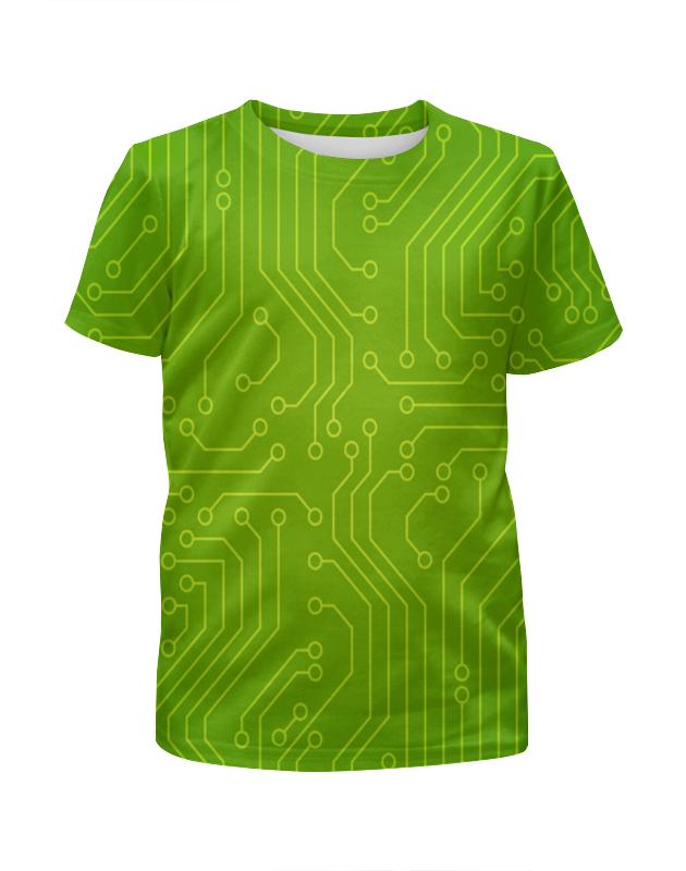 Футболка с полной запечаткой для девочек Printio Зелёная плата футболка с полной запечаткой для девочек printio пртигр arsb