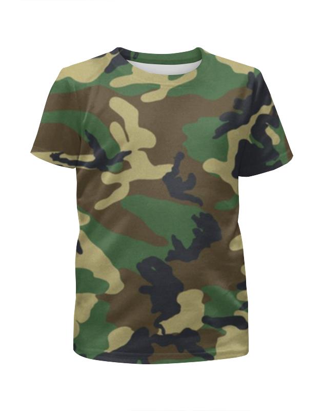 Футболка с полной запечаткой для девочек Printio В стиле милитари в минске рубашку милитари