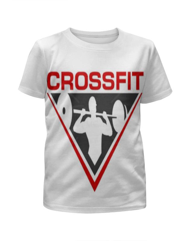 Футболка с полной запечаткой для девочек Printio Crossfit скакалка скоростная proxima crossfit jr 7001 r red