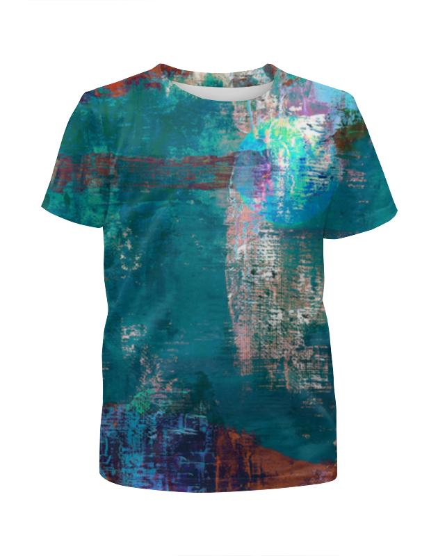 Футболка с полной запечаткой для девочек Printio Абстрактная живопись футболка с полной запечаткой мужская printio абстрактная живопись