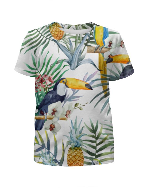 Футболка с полной запечаткой для девочек Printio Пеликан и ананасы футболка с полной запечаткой для девочек printio ананасы