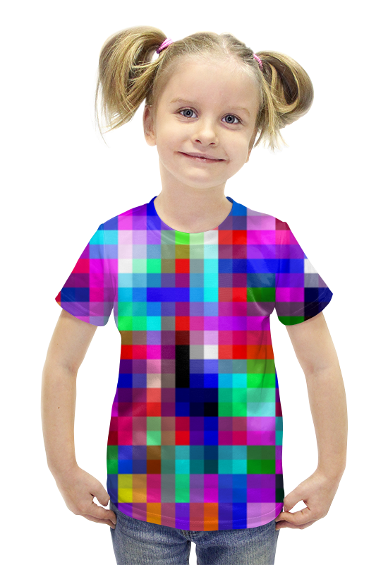 Футболка с полной запечаткой для девочек Printio Pixels футболка с полной запечаткой для девочек printio пртигр arsb