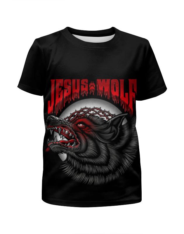 Футболка с полной запечаткой для девочек Printio Jesus wolf jesus