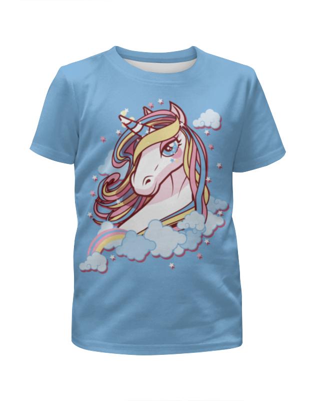 Футболка с полной запечаткой для девочек Printio Единорог футболка с полной запечаткой для девочек printio гонщик