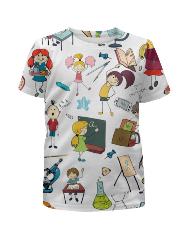 Футболка с полной запечаткой для девочек Printio Школьная дизайнер высокое качество женские натуральная кожа винтажная школьная сумка mochilas mujer винтаж 2017 овчины рюкзаки для девочек