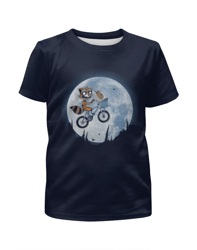 Printio Енотик на луне футболка с полной запечаткой мужская printio енотик на луне