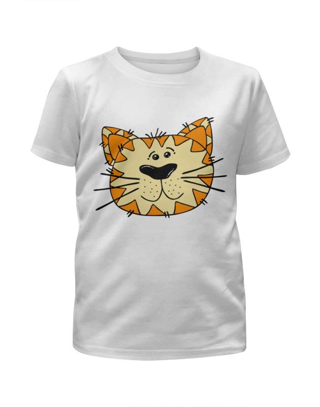 Футболка с полной запечаткой для девочек Printio Весёлый тигр футболка с полной запечаткой для девочек printio одноглазый тигр