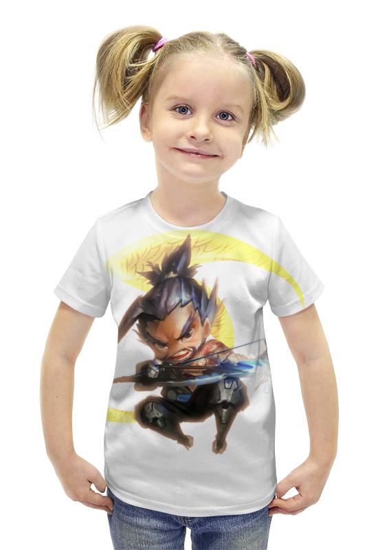 Футболка с полной запечаткой для девочек Printio Ханзо футболка с полной запечаткой для девочек printio пртигр arsb