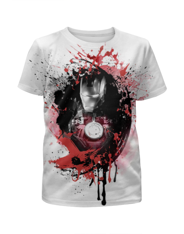 Футболка с полной запечаткой для девочек Printio Железный человек футболка с полной запечаткой для девочек printio пртигр arsb