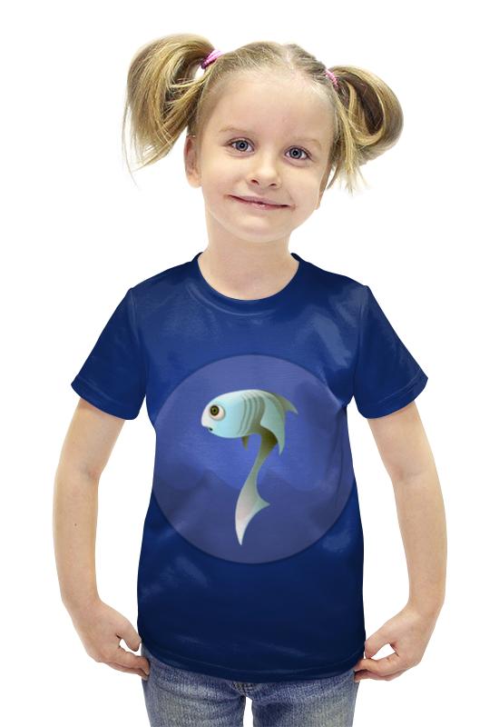 Футболка с полной запечаткой для девочек Printio Рыбка футболка для беременных printio рыбка