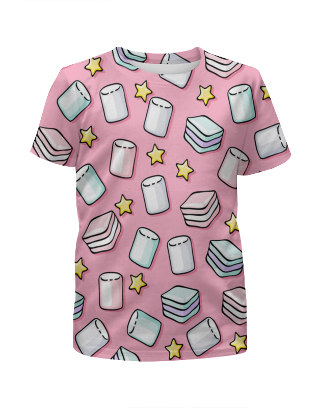 Футболка с полной запечаткой для девочек Printio Зефир футболка с полной запечаткой для девочек printio воздушный зефир