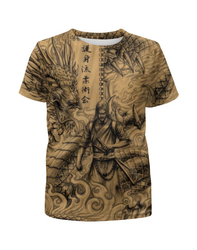 Футболка с полной запечаткой для девочек Printio Самурай дракон блузка в китайском национальном стиле