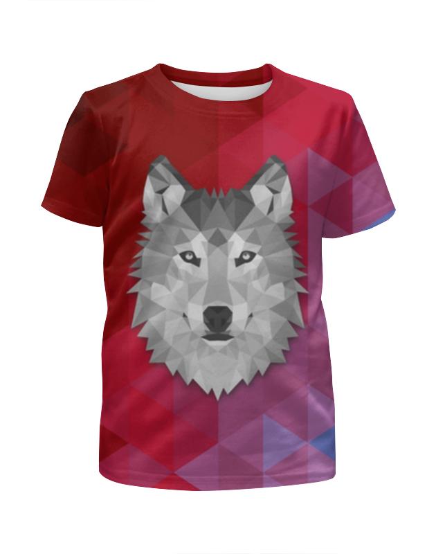 Printio Полигональный волк футболка с полной запечаткой для девочек printio полигональный голубь