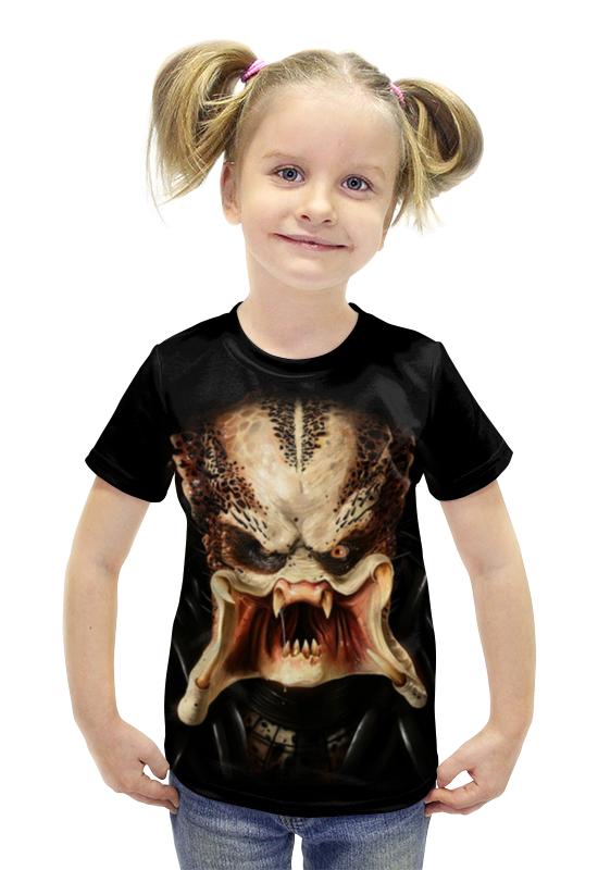 Футболка с полной запечаткой для девочек Printio Хищник футболка с полной запечаткой для девочек printio spawn