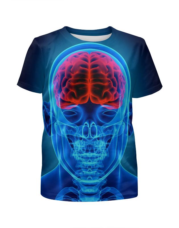 Футболка с полной запечаткой для девочек Printio X-ray skull футболка с п��лной запечаткой для девочек printio росомаха x men
