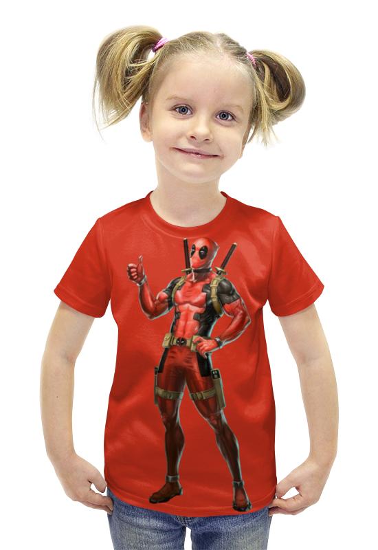 Футболка с полной запечаткой для девочек Printio Deadpool/дэдпул футболка с полной запечаткой для девочек printio пртигр arsb