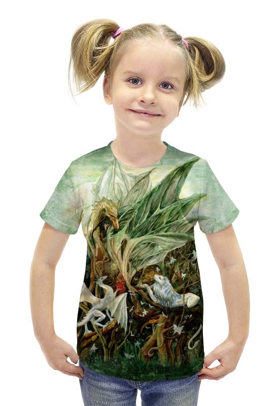 Футболка с полной запечаткой для девочек Printio На ветвях дракона футболка с полной запечаткой printio война миров z