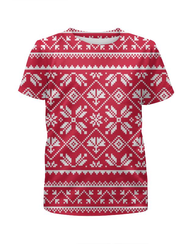 Футболка с полной запечаткой для девочек Printio Новый год футболка с полной запечаткой женская printio новый год