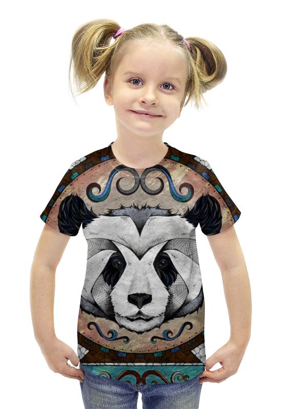 Футболка с полной запечаткой для девочек Printio Панда арт футболка с полной запечаткой для девочек printio панда