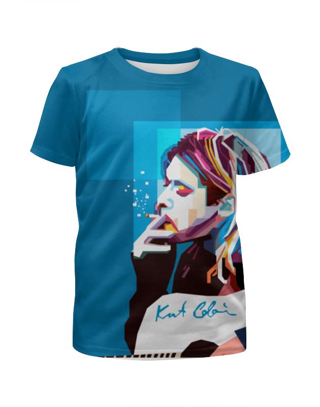 Футболка с полной запечаткой для девочек Printio Курт кобейн футболка с полной запечаткой для мальчиков printio гитарист