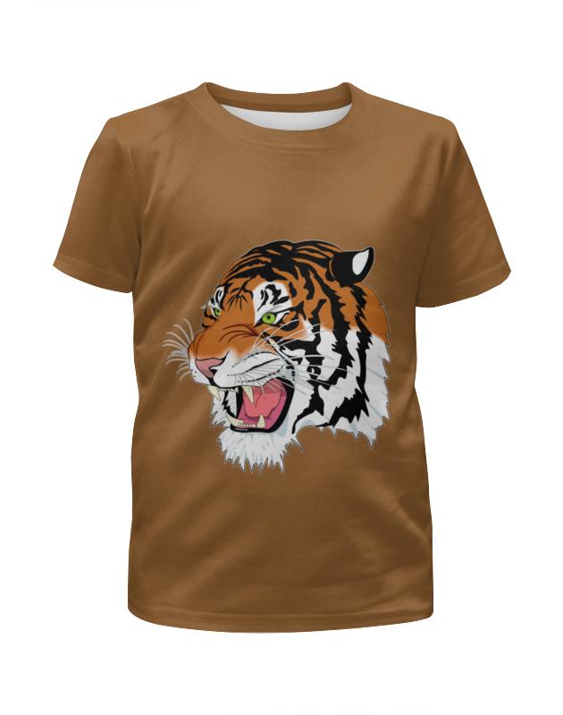 Футболка с полной запечаткой для девочек Printio Тигр. футболка с полной запечаткой для девочек printio одноглазый тигр