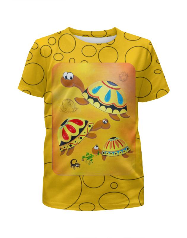 Футболка с полной запечаткой для девочек Printio Черепахи случайные мальчика девочка любовь папа мама футболка шорты 2pcs наряды одежду комплекс