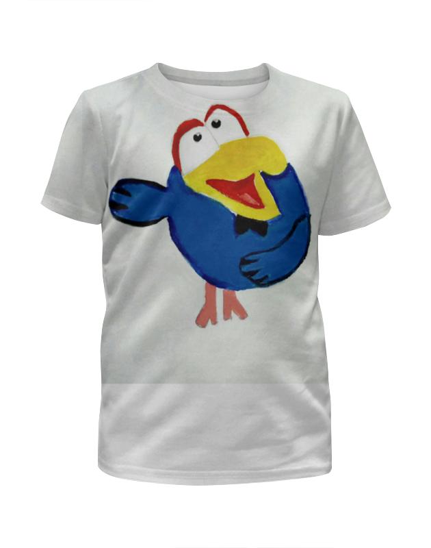 Футболка с полной запечаткой для девочек Printio Ворона футболка рингер printio ворона