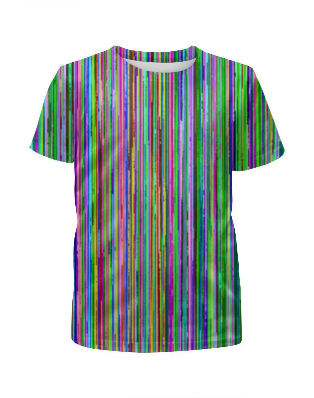 Футболка с полной запечаткой для девочек Printio Glitch art (полосы) футболка с полной запечаткой для девочек printio glitch art круг в квадрате